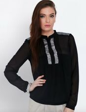 BNWT VERO MODA @ ASOS black kannika sequin see through blouse size XS 6 8 £32