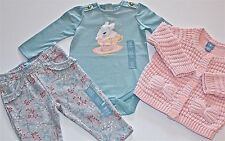 NWT BABY GAP GIRLS SIZE 12-18 MOS TEA TIME SWEATER TOP PANT SET OUTFIT LEGGING