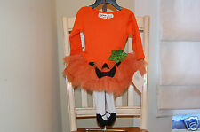 Blueberi Boulevard Baby Girl's Pumpkin Tutu Dress & Tights Set Sz. 24 M NEW