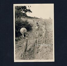 #392 RÖSSLER AKTFOTO / NUDE WOMAN STUDY * Vintage 1950s Outdoors Photo - no PC !
