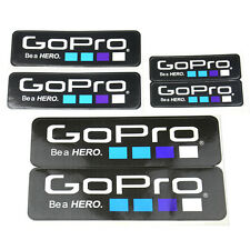 6Pcs GoPro HD Hero Accessories Icon Adhesive Stickers Go Pro LOGO Decal Sticker