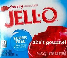 JELL-O Sugar Free Low Calorie Gelatin Dessert: Cherry (4 Pack) .30 oz Boxes