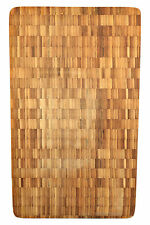 "Pro 17.7"" Large End Grain Bamboo Cutting Board Antibacterial Butcher Block"