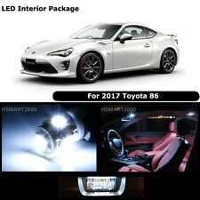 6PCS Cool White Interior LED Bulbs Package Kit For 2017 Toyota 86