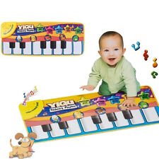 Music Sound Touch Play Piano  Keyboard Music Carpet Mat Blanket Kids Gift Toy