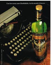 Publicité Advertising 1990 Scotch Whisky Glenfiddich