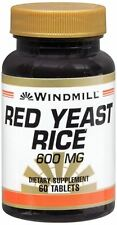 Windmill Red Yeast Rice 600 mg Tablets 60 Tablets (Pack of 8)