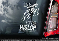 Steve 'Hizzy' Hislop - Car Window Sticker - Isle of Man TT - PROCEEDS TO CHARITY