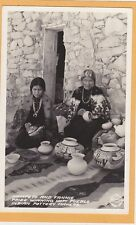 Native American Real Photo Postcard RPPC - Nampeyo & Fannie Hopi Indian Pottery