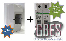 Noark DC Circuit Breaker 63A 2 Pole & Switchboard Enclosure Clipsal 4CC2 Combo