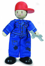 MIKE THE MECHANIC BUDKIN by LE TOY VAN BUDKINS BK931 - FARM WORLD RANGE