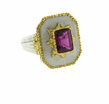 Buccellati 18k Gold Pink Tourmaline Ring