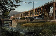 Bad Sooden Allendorf Hessen AK ~1910 Salinen Kur Kurpark Fluß Werra Brücke