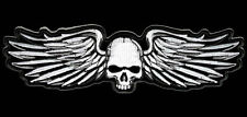 SKULL WINGS  EMBROIDERED  HOOK LOOP 5 INCH PATCH