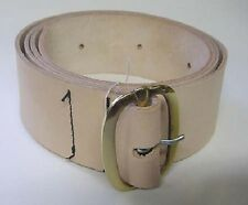 "Leather Belt 2 1/8"" wide Brass Buckle18thcentury ReproN"