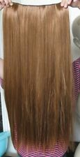 "ginger copper red 5 clips one piece straight 22"" long clip in on hair extension"