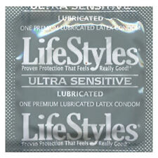 LIFESTYLES ULTRA SENSITIVE,XTRA-THIN LATEX.LUBRICATED CONDOMS.100 PACK