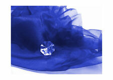 Crystal-Organza Royalblau Meterware Deko Kostüme Hochzeit Nähen Basteln