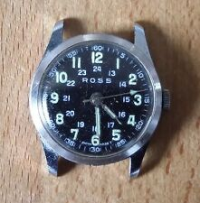 VINTAGE MILITARY WATCH 24 ORE-ROSS (0ra Bell & Ross) SWISS MADE FUNZIONANTE