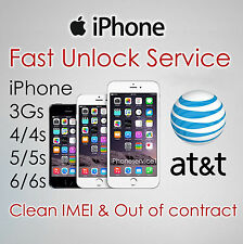 NETWORK UNLOCK CODE FOR AT&T ATT IPHONE 3 4 4S 5 5S 5C 6 6+ 6S Plus 7 7 Plus SE