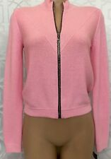Louis Vuitton Sweater Pink Cashmere Crew Neck Cardigan Nwt$1790 XS
