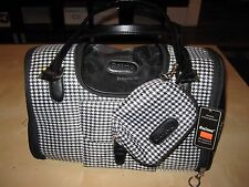 NWT BLACK WHITE CAR TRAVEL PET CARRIER FOR SMALL DOGS CAT ANIMALS