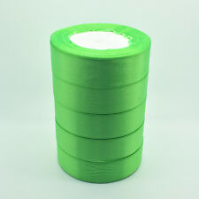 "New 5 Yards 1"" 25mm Green Bulk Satin Ribbon DIY Craft sewing Supplies crafts NA1"