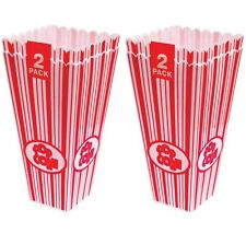 4 x 28cm Tall Popcorn Party Holders Cinema Sweet Movie Party Treat Candy Pot Tub