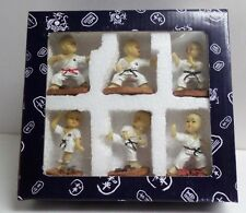 6 Shaolin Kung Fu Karate Kids Figure - Action Figurine Set