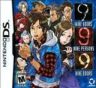 999: 9 Hours 9 Persons 9 Doors (Nintendo DS NDS DSi Nine 2010 First Print Cover)