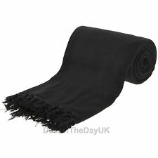 Large 100% Cotton Sofa Throws Single Double King Size Bed Throw Arm Chair Covers
