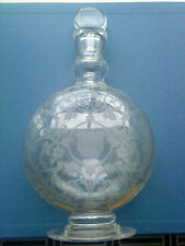 Vintage Baccarat Crystal Glass decanter J & F Martell cognac Blown Etched