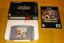 STAR WARS EPISODE I RACER Nintendo 64 N64 Versione PAL Europea ○○○○ COMPLETO