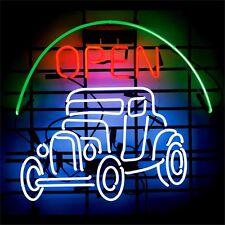 "Open Jeep Car NEON LIGHT SIGN Display Garage STORE BEER BAR CLUB Bar Shop 17x14"""