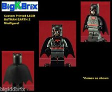 BATMAN Earth 2 DC Comics Custom Printed LEGO Minifigure w/Custom Helmet & Cape