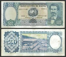 Bolivia 500 PESOS Bol. Serie A Sign.Paz & Balaldión P 165 VF OFFER !