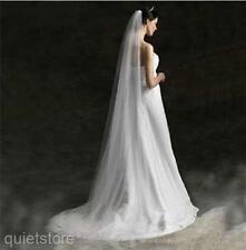 3M Länge Design Hochzeit Brautschleier Damen Weiß Tüll Schön Braut Schleier