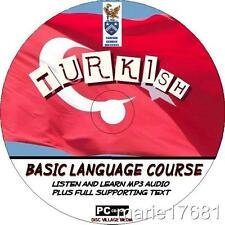 LEARN TO SPEAK TURKISH LANGUAGE PCCD COURSE EASY BEGINNER PROGRAM MP3 + TEXT NEW