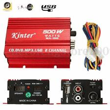 2 Channel 500W Mini HiFi Subwoofer Stereo Audio Amplifier Amp Car Motorcycle MP3