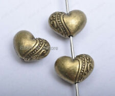 20pcs antique bronze Heart Shaped loose Spacer Beads 9mm DIY Findings