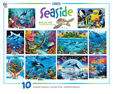 CEACO 2015 SEASIDE 10 IN 1 MULTI-PACK JIGSAW PUZZLE SET #3803-7