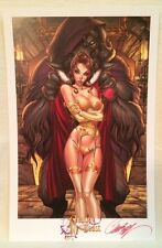J. SCOTT CAMPBELL FAIRY TALE FANTASIES BEAUTY & THE BEAST ART PRINT 2014 SDCC