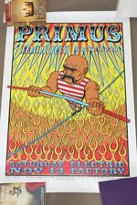 PRIMUS OFFICIAL CONCERT POSTER 1999 SIGNED AND NUMBERED PHILADELPHIA RARE