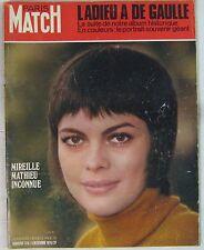 Mireille Mathieu Revue Paris Match Décembre 1970