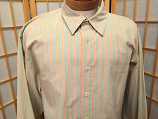 Indigo Palms Tommy Bahama Cotton Long Sleeve Shirt Multi Color Stripped Size XL