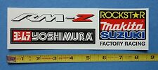 Suzuki Factory Racing Decal Sticker~Sheet of 3~RM-Z Yoshimura Motocross SX Dirt