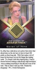 Women Of Star Trek WCC22 Jeri Ryan 7 Of 9 Costume RARE