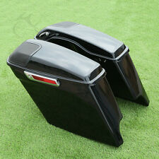 Cutout Extended Stretched Saddlebags + Speaker Grill For Harley Touring 2014-17
