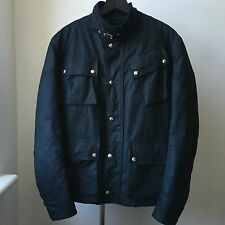 Very Cool Balenciaga Paris Navy blue padded biker jacket Sz 48