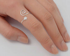 Silver Star Rings Sterling Silver 925 Plain Low Price Jewelry Adjustable